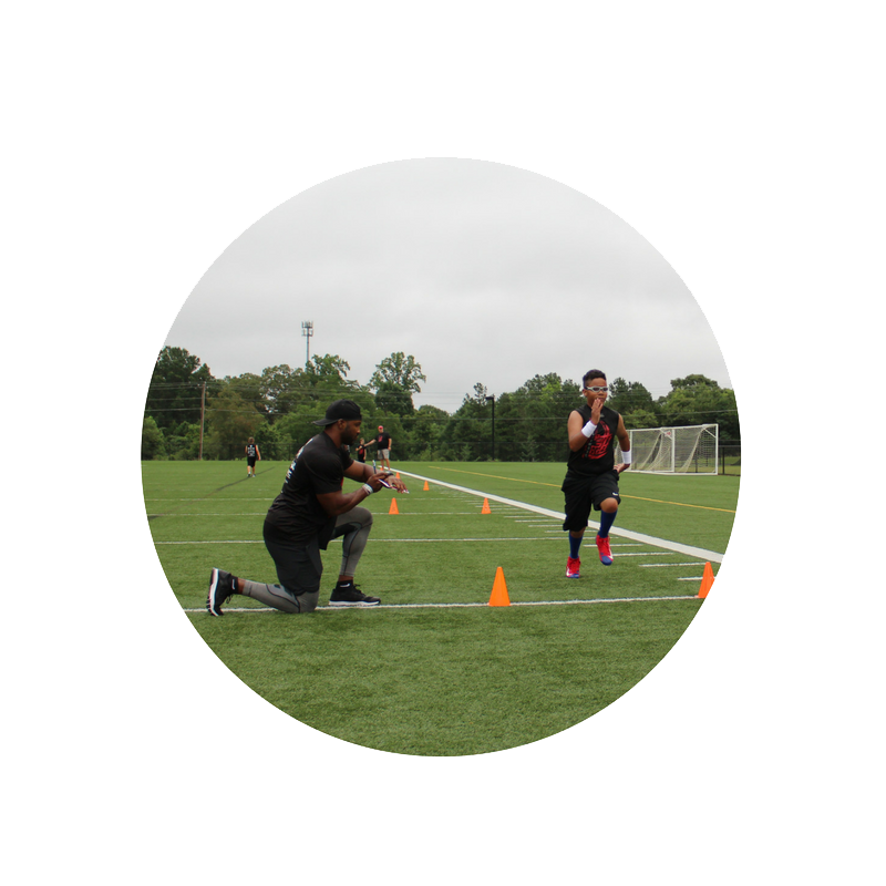 Young athletes learn the foundations of their sport, build and develop great fitness habits, learn about safety, and work on speed.