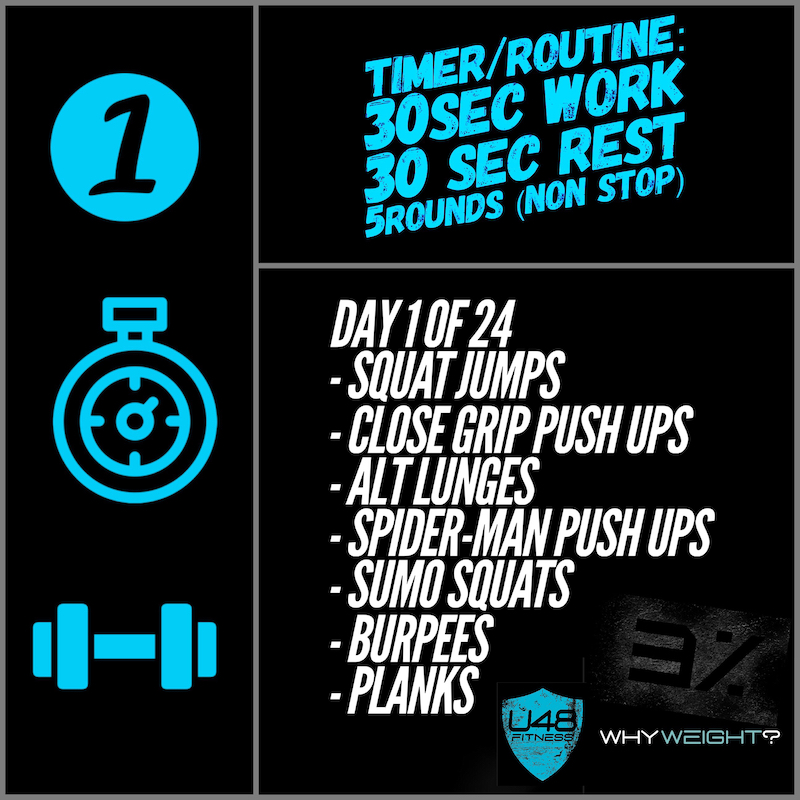 Ultimate 48 Fitness - 3 Percent Challenge Day 1