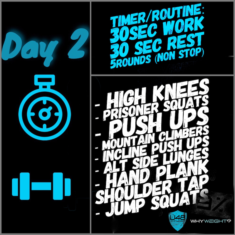 Ultimate 48 Fitness - 3 Percent Challenge Day 2