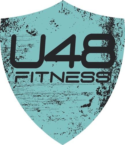 Ultimate 48 Fitness Teal Logo